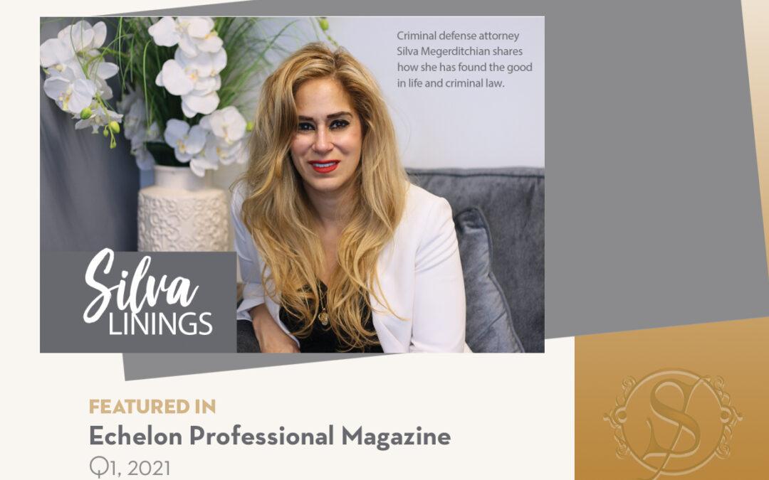 SLM Law Silva Legal Megerditchian Featured in Echelon Professional Magazine